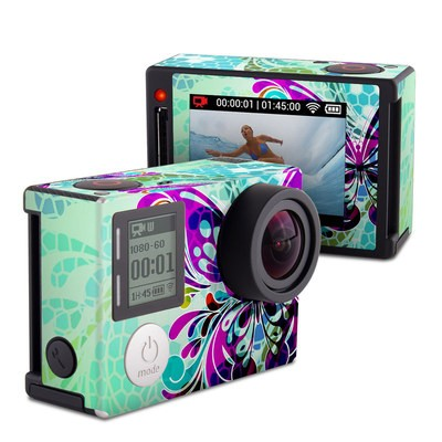 GoPro Hero4 Silver Skin - Butterfly Glass