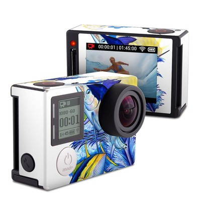 GoPro Hero4 Silver Skin - Blue White and Yellow
