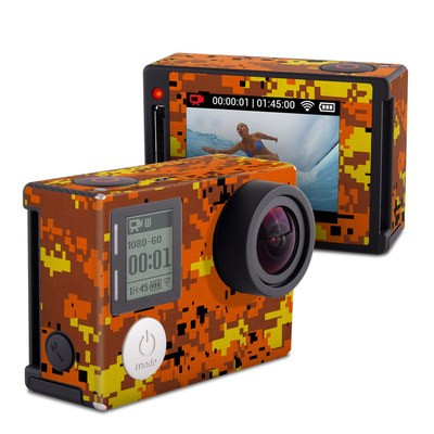 GoPro Hero4 Silver Skin - Digital Orange Camo