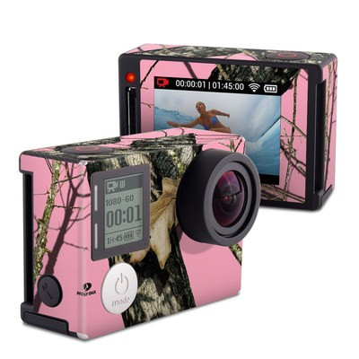 GoPro Hero4 Silver Skin - Break-Up Pink