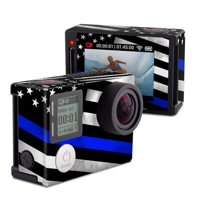 GoPro Hero4 Silver Skin - Thin Blue Line Hero