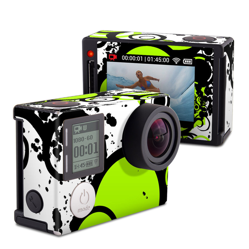 gopro hero4 silver skin simply green by gaming decalgirl