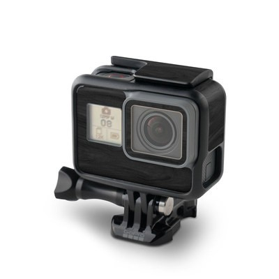 GoPro Hero7 Black Skin - Black Woodgrain