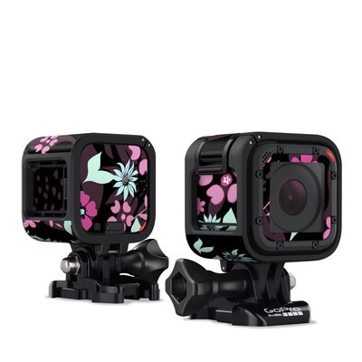 GoPro Hero Session Skin - Dark Flowers