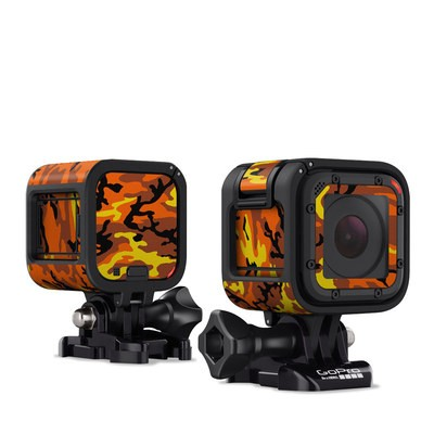 GoPro Hero Session Skin - Orange Camo