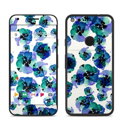 Google Pixel Skin - Blue Eye Flowers