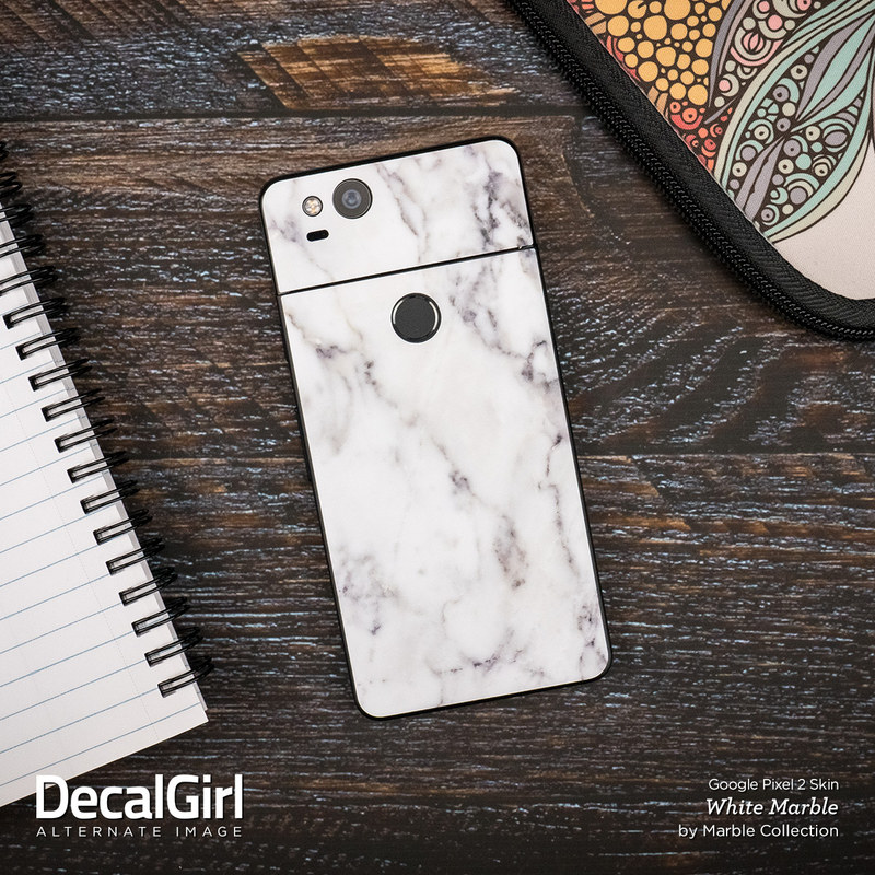 google pixel 2 skin rosa marble by marble collection decalgirl