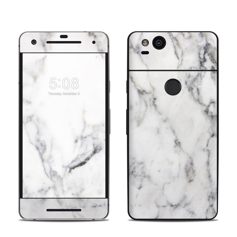 online store fd7bc 59505 Google Pixel 2 Skin - White Marble