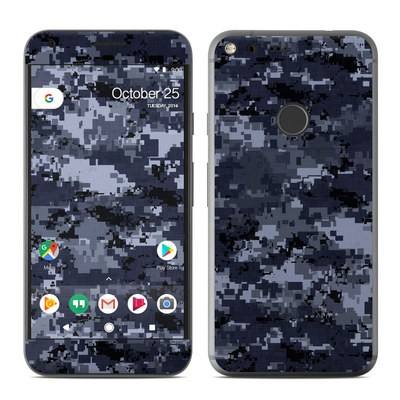 Google Pixel XL Skin - Digital Navy Camo