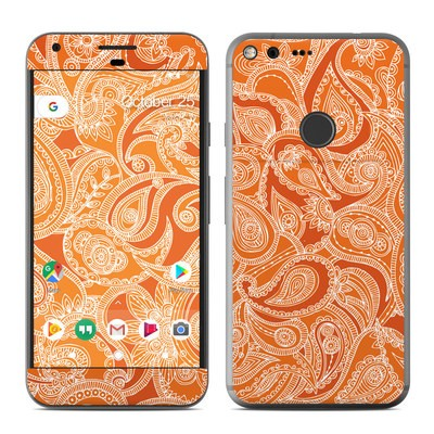 Google Pixel XL Skin - Paisley In Orange