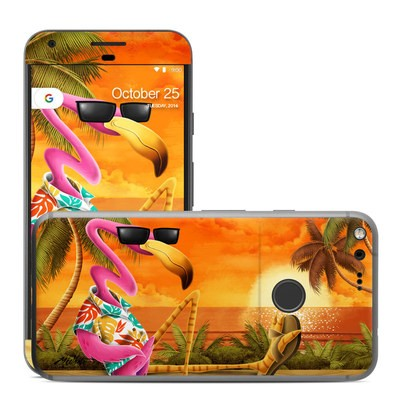 Google Pixel XL Skin - Sunset Flamingo