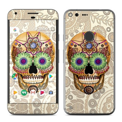 Google Pixel XL Skin - Sugar Skull Bone