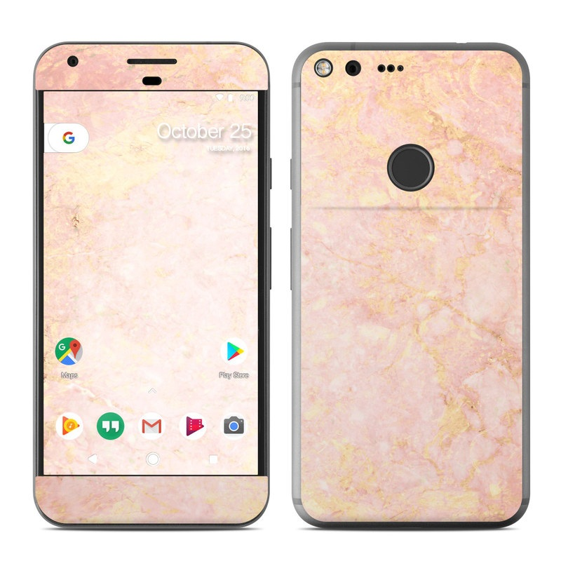 Google Pixel Xl Skin Rose Gold Marble By Marble