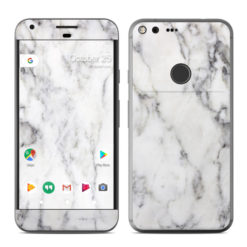 Google Pixel Xl Skin White Marble By Marble Collection