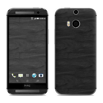 HTC One M8 Skin - Black Woodgrain