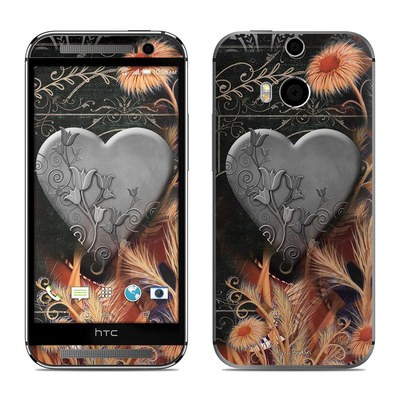 HTC One M8 Skin - Black Lace Flower