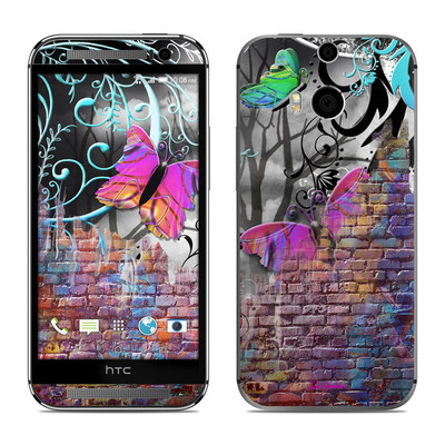 HTC One M8 Skin - Butterfly Wall