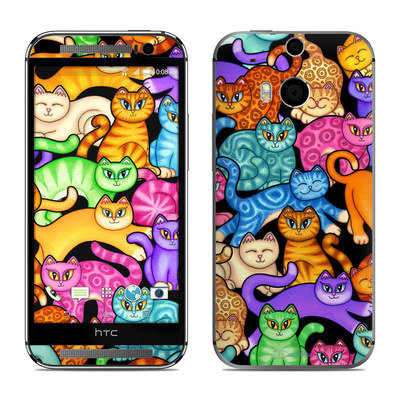 HTC One M8 Skin - Colorful Kittens