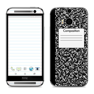HTC One M8 Skin - Composition Notebook