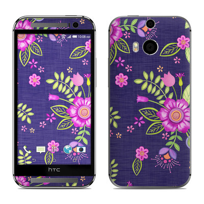 HTC One M8 Skin - Folk Floral