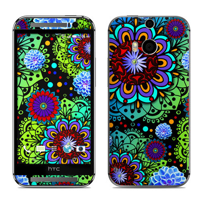 HTC One M8 Skin - Funky Floratopia