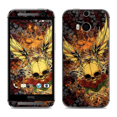 HTC One M8 Skin - Radiant Skull