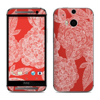 HTC One M8 Skin - Red Dahlias