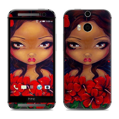 HTC One M8 Skin - Red Hibiscus Fairy