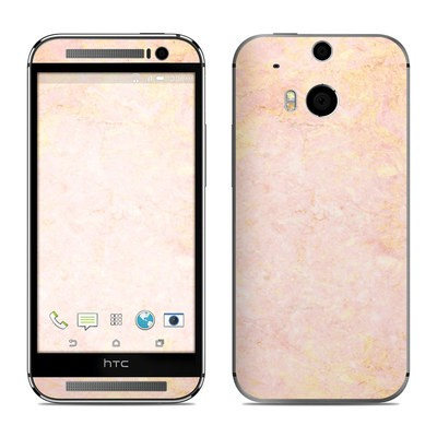HTC One M8 Skin - Rose Gold Marble