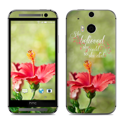 HTC One M8 Skin - She Believed