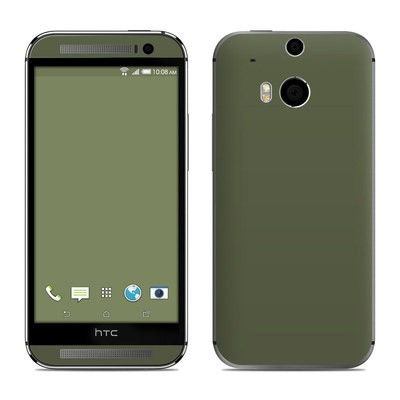 HTC One M8 Skin - Solid State Olive Drab