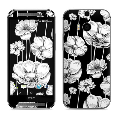 HTC One M8 Skin - Striped Blooms