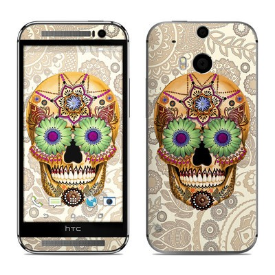 HTC One M8 Skin - Sugar Skull Bone