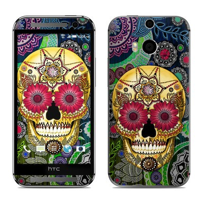 HTC One M8 Skin - Sugar Skull Paisley
