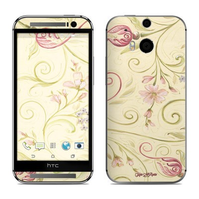 HTC One M8 Skin - Tulip Scroll