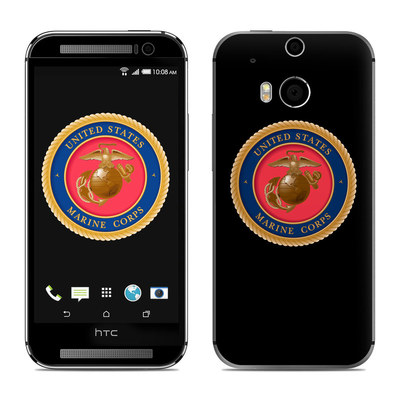 HTC One M8 Skin - USMC Black