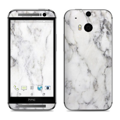 HTC One M8 Skin - White Marble