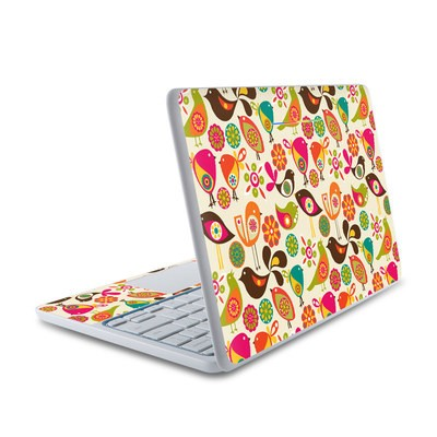HP Chromebook 11 Skin - Bird Flowers