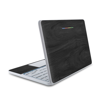 HP Chromebook 11 Skin - Black Woodgrain