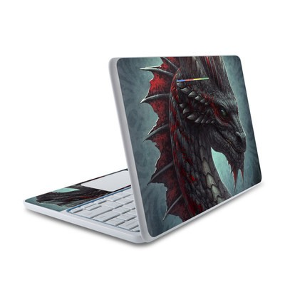 HP Chromebook 11 Skin - Black Dragon