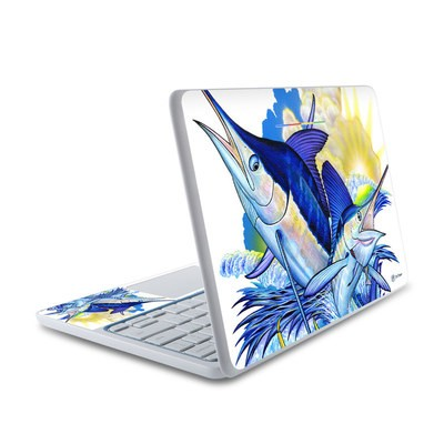 HP Chromebook 11 Skin - Blue White and Yellow