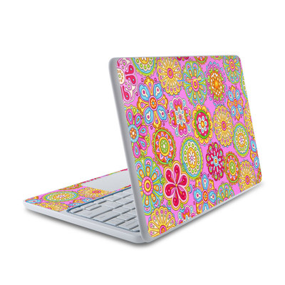 HP Chromebook 11 Skin - Bright Flowers