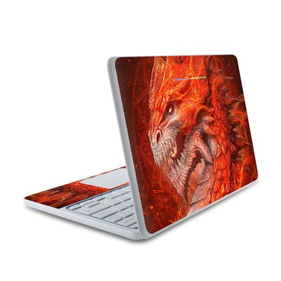 HP Chromebook 11 Skin - Flame Dragon