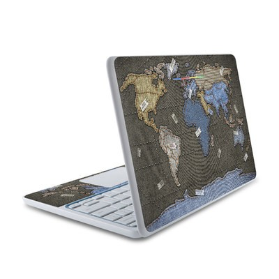 HP Chromebook 11 Skin - Jean Map