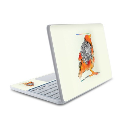 HP Chromebook 11 Skin - Orange Bird