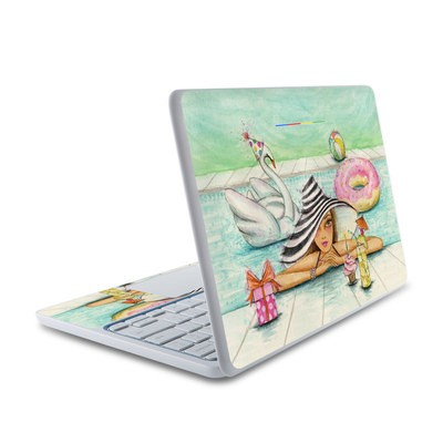HP Chromebook 11 Skin - Delphine at the Pool Party