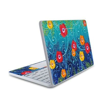 HP Chromebook 11 Skin - Poppies