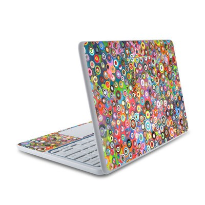 HP Chromebook 11 Skin - Round and Round