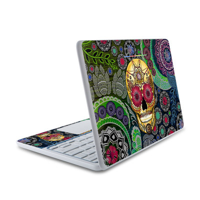 HP Chromebook 11 Skin - Sugar Skull Paisley