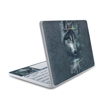 HP Chromebook 11 Skin - Wolf Reflection